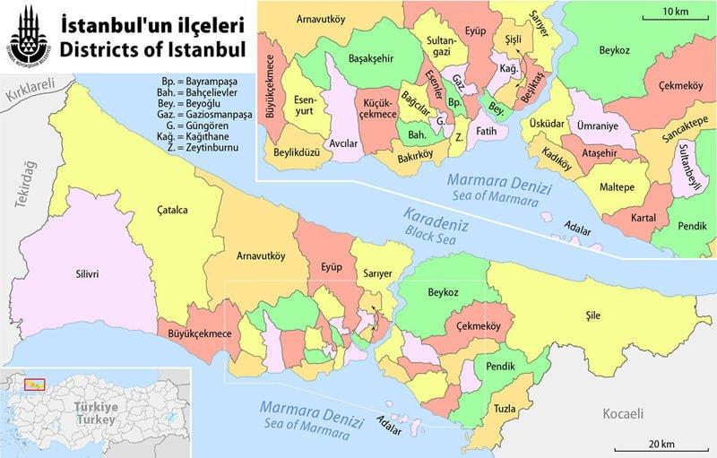 İstanbul Haritası - Çeşitli İstanbul Haritaları